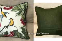 №2 подушка диванна, льон, розмір 45Х45 см.