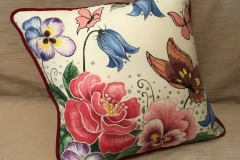 №5 подушка диванна, льон, розмір 45Х45 см.