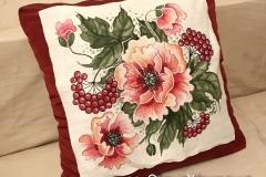 №1 подушка диванна, льон, розмір 45Х45 см.