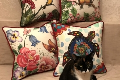 Подушки диванные, лен, размер 45Х45 см.