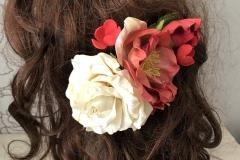 """№162. Заколка """"Рози біла і червона""""."""