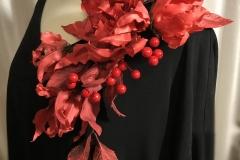 """№144. Прикраса для плаття """"Червоний фентезі""""."""