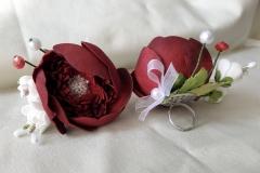 """№133 Украшения для дружки невесты """"Пион""""(кольца)."""