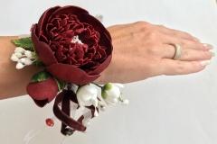"""№133 Украшения для дружки невесты """"Пион""""(браслет)"""