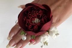 """№133 Украшения для дружки невесты """"Пион""""(кольцо)."""