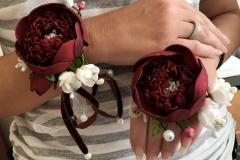 """№133 Украшения для дружки невесты """"Пион"""" (кольца и браслеты)."""