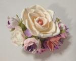 №54. Заколка с розой.